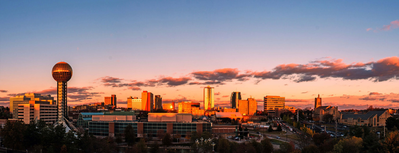 Knoxville Skyline at Dusk